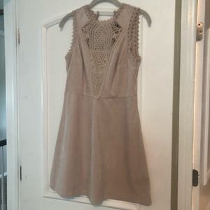 Francesca's tan suede dress